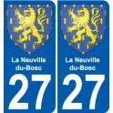27 La Neuville-du-Bosc blason autocollant plaque stickers ville