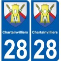 28 Chartainvillierscoat of arms sticker plate stickers city