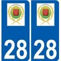 28 Écrosnes logo autocollant plaque stickers ville