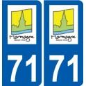 71 Marmagne logo autocollant plaque stickers ville