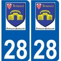 28 Dammarie logo autocollant plaque stickers ville