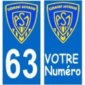 63 ASM Clermont Rugby autocollant plaque