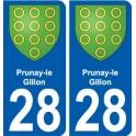 28 Prunay-le-Gillon blason autocollant plaque stickers ville