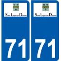 71 Saint-Léger-sur-Dheune coat of arms sticker plate stickers city