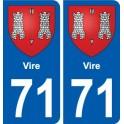 71 Vire stemma adesivo piastra adesivi città