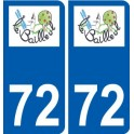 72 Le Bailleul coat of arms sticker plate stickers city