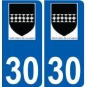 30 Saint-Julien-de-Cassagnas logo autocollant plaque stickers ville