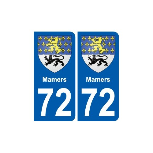 72 Mamers coat of arms sticker plate stickers city
