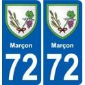 72 Marçon coat of arms sticker plate stickers city