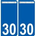30 Saint-Hilaire-d'Ozilhan logo sticker plate stickers city
