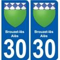 29 de Penmarch escudo de armas de la etiqueta engomada de la placa de pegatinas de la ciudad