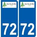 72 Saint-Ouen-en-Belin coat of arms sticker plate stickers city