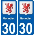 30 Monoblet coat of arms sticker plate stickers city