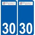 30 Codolet logo autocollant plaque stickers ville