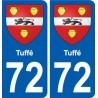 72 Tuffé blason autocollant plaque stickers ville