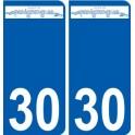 30 Parignargues logo sticker plate stickers city