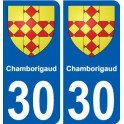 30 Chamborigaud coat of arms sticker plate stickers city