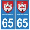 65 Bagnères-de-bigorre ville autocollant plaque