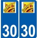 30 Sainte-Cécile-d'Andorge logo autocollant plaque stickers ville