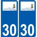 30 Moulézan logo sticker plate stickers city