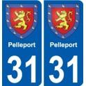 31 Pelleport blason autocollant plaque stickers ville