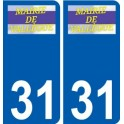 31 Vallègue logo sticker plate stickers city