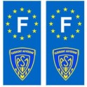 F ASM Clermont Rugby autocollant plaque