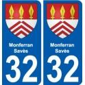 32 Penmarch escudo de armas de la etiqueta engomada de la placa de pegatinas de la ciudad