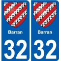 32 Barran coat of arms sticker plate stickers city