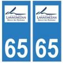 65 Lannemezan logo ville autocollant plaque