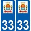 33 Penmarch logo sticker plate stickers city
