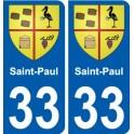 33 Penmarch stemma adesivo piastra adesivi città