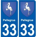 33 Pellegrue coat of arms sticker plate stickers city