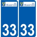 33 Blasimon logo sticker plate stickers city