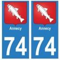74 Annecy Savoieautocollant plaque