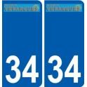 34 Vérargues logo autocollant plaque stickers ville