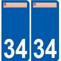 34 Penmarch logo adesivo piastra adesivi città