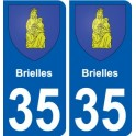 35 Brielles coat of arms sticker plate stickers city