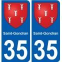 35 Saint-Gondran coat of arms sticker plate stickers city