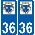 36 Lye logo autocollant plaque stickers ville