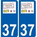 37 Penmarch logo sticker plate stickers city