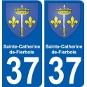 37 Sainte-Catherine-de-Fierbois coat of arms sticker plate stickers city