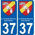 37 La Chapelle-Blanche-Saint-Martin coat of arms sticker plate stickers city