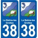 38 La Balme-les-Grottes coat of arms sticker plate stickers city