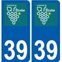 39 L'étoile logo autocollant plaque stickers ville