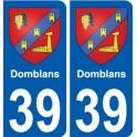 39 Penmarch escudo de armas de la etiqueta engomada de la placa de pegatinas de la ciudad