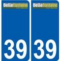 39 Bellefontaine logo autocollant plaque stickers ville