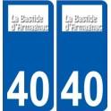 40 Labastide-d'Armagnac logo sticker plate stickers city