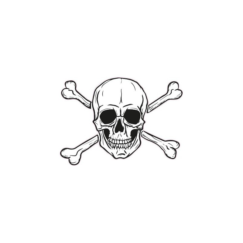 autocollant stickers t te de mort skull casque moto adhesif. Black Bedroom Furniture Sets. Home Design Ideas