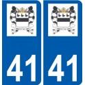 41 La Ferté-Beauharnais logo autocollant plaque stickers ville